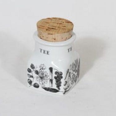 Arabia maustekuvio maustepurkki, tee, suunnittelija Esteri Tomula, tee, serikuva