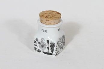 Arabia maustekuvio spice jar, tea, designer Esteri Tomula, silk screening