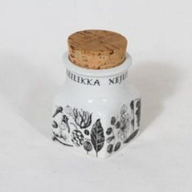 Arabia maustekuvio maustepurkki, neilikka, suunnittelija Esteri Tomula, neilikka, serikuva