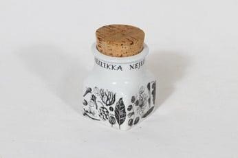 Arabia maustekuva spice jar, cloves, designer Esteri Tomula, silk screening