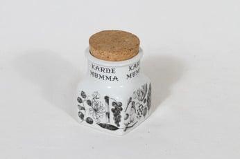 Arabia maustekuvio spice jar, cardamom, designer Esteri Tomula, silk screening