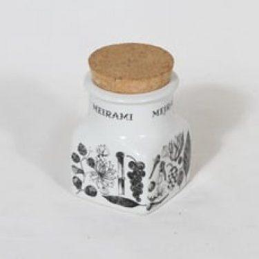 Arabia maustekuvio maustepurkki, meirami, suunnittelija Esteri Tomula, meirami
