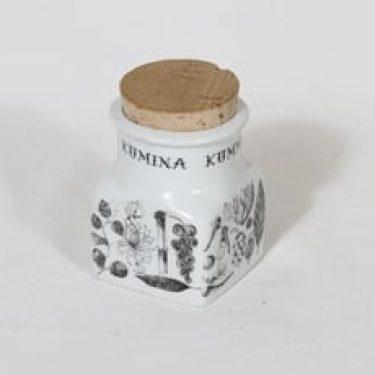 Arabia maustekuvio maustepurkki, kumina, suunnittelija Esteri Tomula, kumina