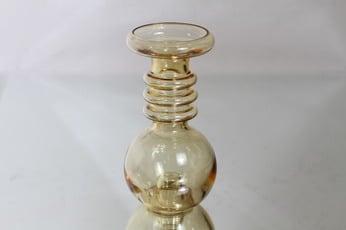 Riihimäen lasi Carmen kääntömaljakko, amber, suunnittelija Tamara Aladin,