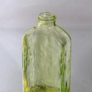 Riihimäen lasi Lankkupullo koristepullo, keltainen, suunnittelija Helena Tynell,
