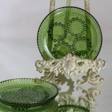 Riihimäen lasi Grapponia lautaset, vihreä, 2 kpl, suunnittelija Nanny Still,