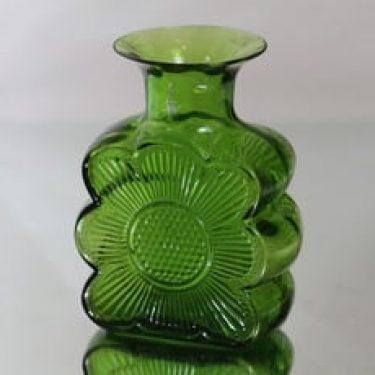 Riihimäen lasi Amuletti maljakko, vihreä, suunnittelija Tamara Aladin,