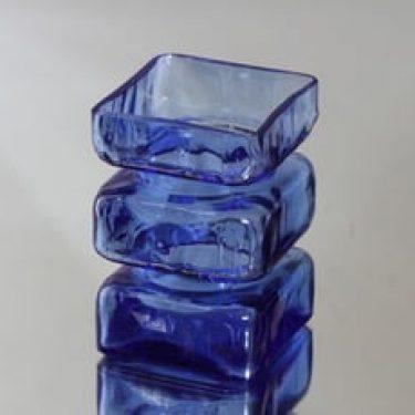 Riihimäen lasi 1392 maljakko, sininen, suunnittelija Helena Tynell,