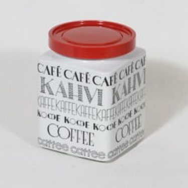Arabia Kahvi kahvitölkki, suunnittelija Esteri Tomula, serikuva, tekstikoriste
