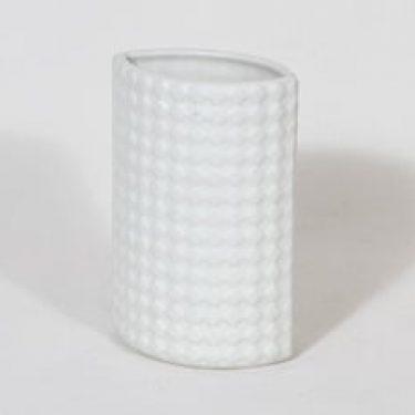 Arabia Harlekiini maljakko, valkoinen, suunnittelija Kaarina Aho,