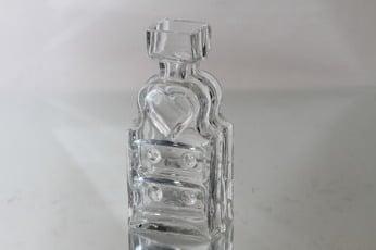 Riihimäen lasi Piironki maljakko, kirkas, suunnittelija Helena Tynell,