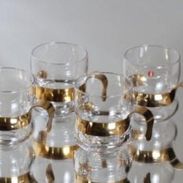 Iittala Paula lasit, 14 cl, 4 kpl, suunnittelija Jorma Vennola, 14 cl, metallikahva