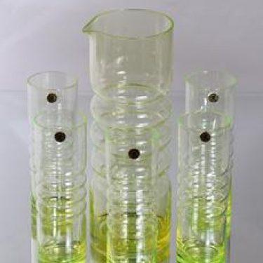 Riihimäen lasi Tzarina kaadin ja lasit, 1.5 l|30 cl, 5 kpl, suunnittelija Nanny Still, 1.5 l|30 cl