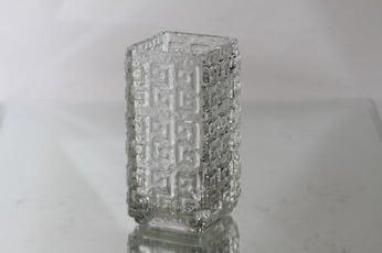 Riihimäen lasi Taalari maljakko, kirkas, suunnittelija Tamara Aladin, massiivinen