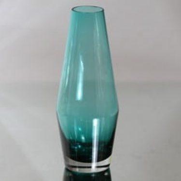 Riihimäen lasi maljakko, turkoosi, suunnittelija Tamara Aladin,