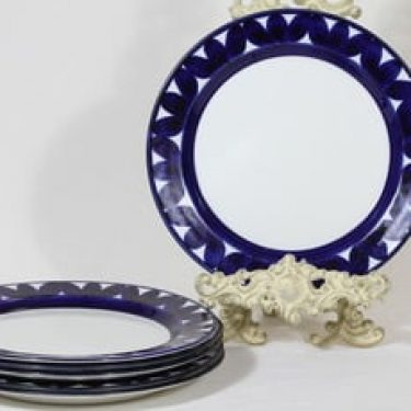 Arabia Sotka lautaset, matala, 6 kpl, suunnittelija Raija Uosikkinen, matala, käsinmaalattu