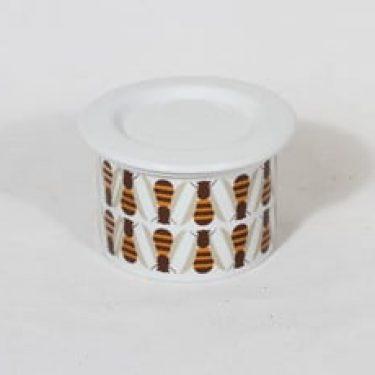 Arabia Pomona purnukka, hunaja, suunnittelija Raija Uosikkinen, hunaja, pieni, serikuva, retro