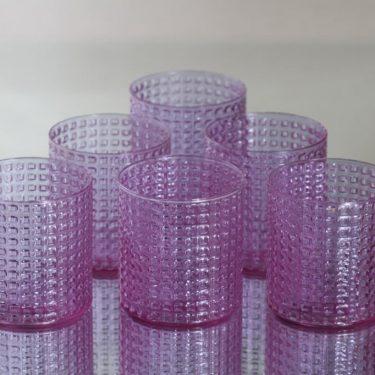 Nuutajärvi OTK lasit, neodymi, 6 kpl, suunnittelija Kaj Franck,