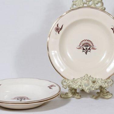 Arabia Delila lautaset, 3 kpl, suunnittelija , siirtokuva, art deco
