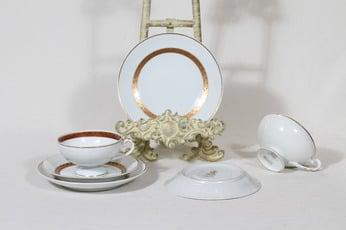 Arabia Helena kahvikupit ja lautaset, käsinmaalattu, 2 kpl, suunnittelija , käsinmaalattu