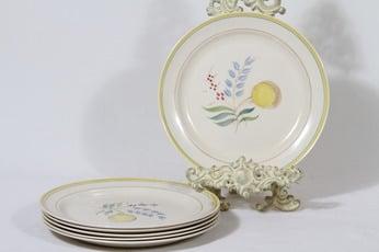 Arabia Windflower lautaset, matala, 6 kpl, suunnittelija Olga Osol, matala, käsinmaalattu