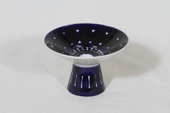Arabia Valencia kynttilänjalka, käsinmaalattu, suunnittelija Ulla Procope, käsinmaalattu, signeerattu