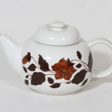 Arabia Tea for Two teekaadin, 1 l, suunnittelija Gunvor Olin-Grönqvist, 1 l, serikuva