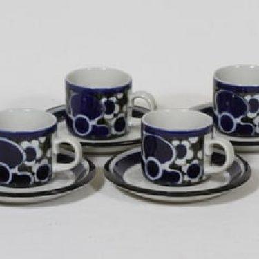 Arabia Saara kahvikupit, 4 kpl, suunnittelija Anja Jaatinen-Winquist, erikoiskoriste