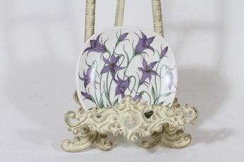 Arabia Botanica koristelautanen, Harakankello, suunnittelija Esteri Tomula, Harakankello, pieni, serikuva