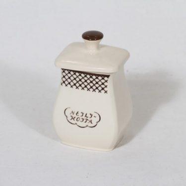 Arabia EG 1 neilikkapurkki, tekstikuvio, suunnittelija , tekstikuvio, pieni, tekstikoriste