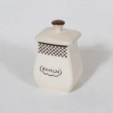 Arabia EG 1 kanelipurkki, tekstikuvio, suunnittelija , tekstikuvio, pieni, tekstikoriste