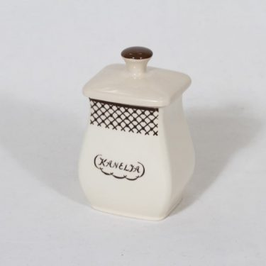 Arabia EG 1 cinnamon jar, text design, small