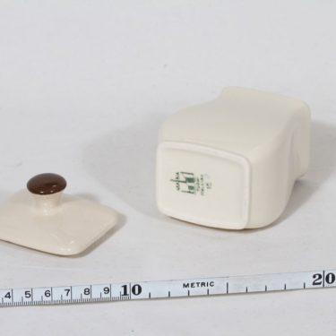 Arabia EG 1 kanelipurkki, tekstikuvio, suunnittelija , tekstikuvio, pieni, tekstikoriste kuva 2