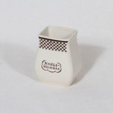 Arabia EG 1 kardemummapurkki, tekstikuvio, suunnittelija , tekstikuvio, pieni, tekstikoriste