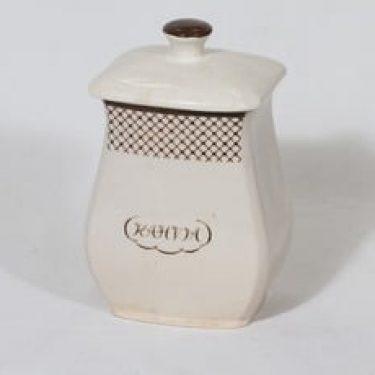 Arabia EG 2 kahvipurkki, tekstikuvio, suunnittelija , tekstikuvio, tekstikoriste