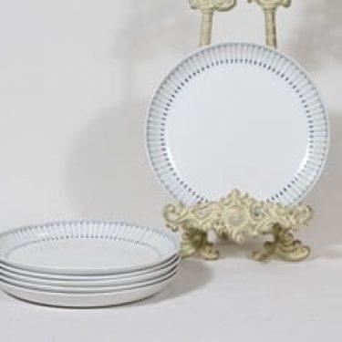 Arabia Heini lautaset, pieni, 6 kpl, suunnittelija Raija Uosikkinen, pieni, matala, kuparipainokoriste