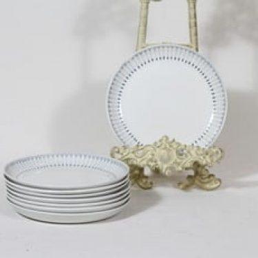 Arabia Heini lautaset, pieni, 8 kpl, suunnittelija Raija Uosikkinen, pieni, matala, kuparipainokoriste