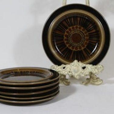 Arabia Kosmos lautaset, 6 kpl, suunnittelija Gunvor Olin-Grönqvist, pieni, puhalluskoriste