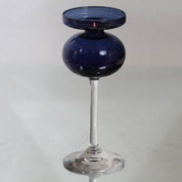 Iittala 266 kynttilänjalka, sininen, suunnittelija Erkki Vesanto,