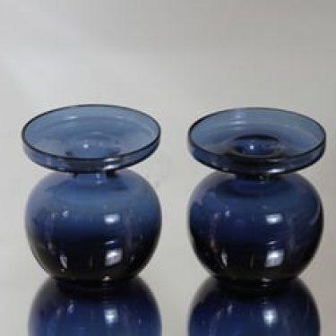 Iittala 1965 kynttilänjalat, sininen, 2 kpl, suunnittelija Erkki Vesanto,