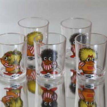 Nuutajärvi Fauni lasit, 14 cl, 5 kpl, suunnittelija , 14 cl, serikuva