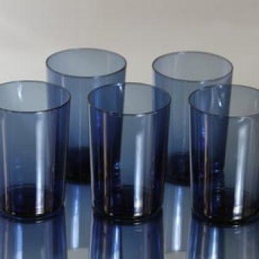 Iittala i-114 lasit, sininen, 5 kpl, suunnittelija Timo Sarpaneva,