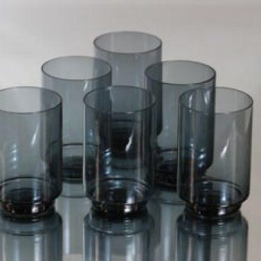 Riihimäen lasi Pöytä lasit, harmaa, 6 kpl, suunnittelija Tamara Aladin,