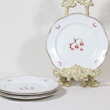 Arabia Terttu lautaset, pieni, 6 kpl, suunnittelija , pieni, painettu koriste, art deco