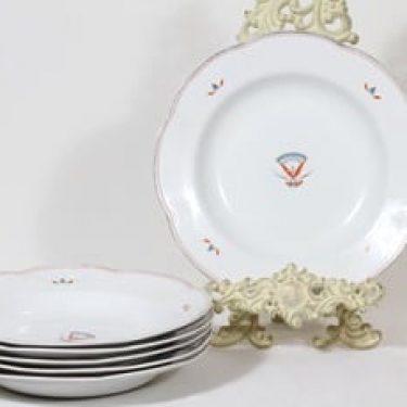 Arabia Egypti lautaset, syvä, 6 kpl, suunnittelija Tyra Lungren, syvä, siirtokuva, art deco