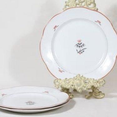 Arabia Pirkko lautaset, matala, 3 kpl, suunnittelija Tyra Lungren, matala, siirtokuva, art deco