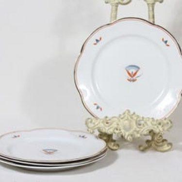Arabia Egypti lautaset, 4 kpl, suunnittelija Tyra Lungren, pieni, siirtokuva, art deco