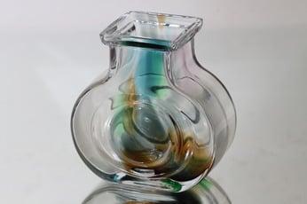 Riihimäen lasi maljakko, monivärinen, suunnittelija Helena Tynell,