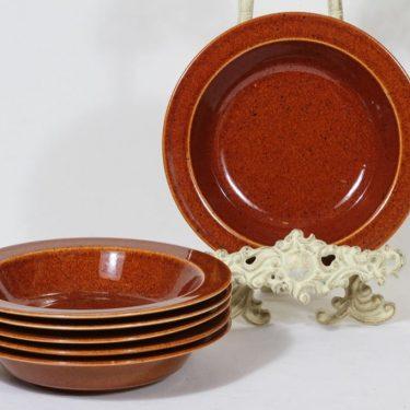 Arabia Krouvi lautaset, syvä, 6 kpl, suunnittelija , syvä