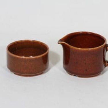 Arabia Krouvi sokerikko ja kermakko, ruskea, suunnittelija ,